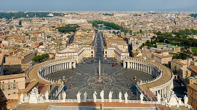 St Peters Square, Vatican City, Rome, Italy