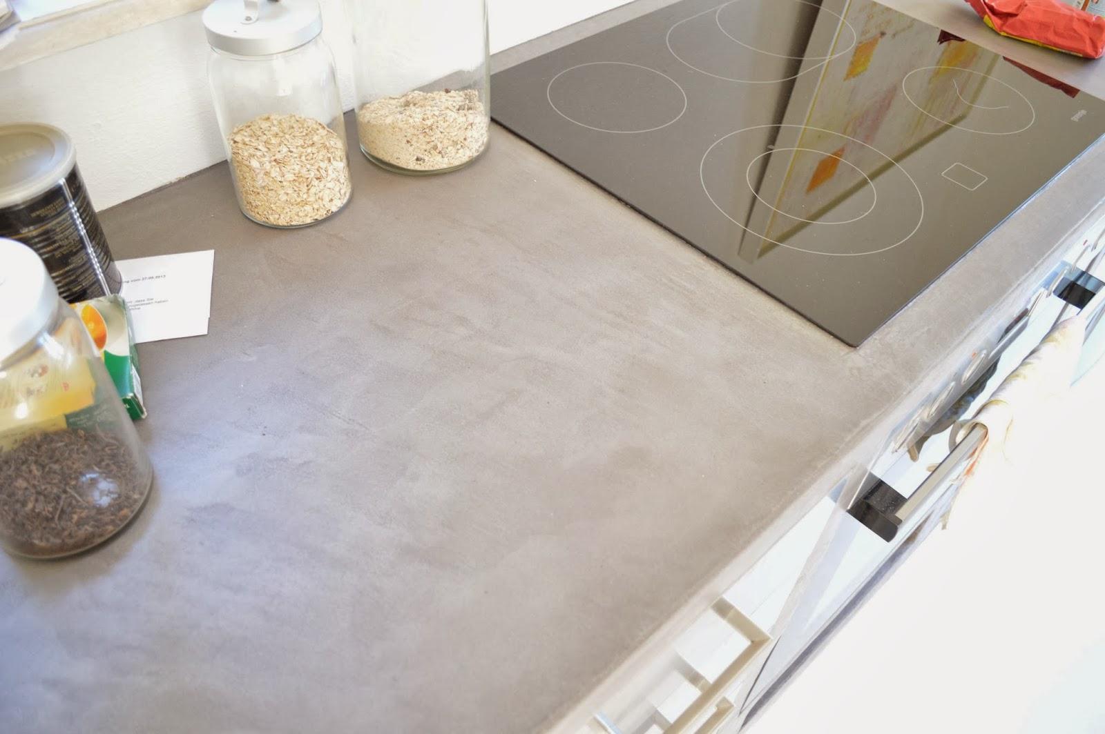 Arbeitsplatte Küche Beton Cire | Arbeitsplatte Beton Selber Machen ...