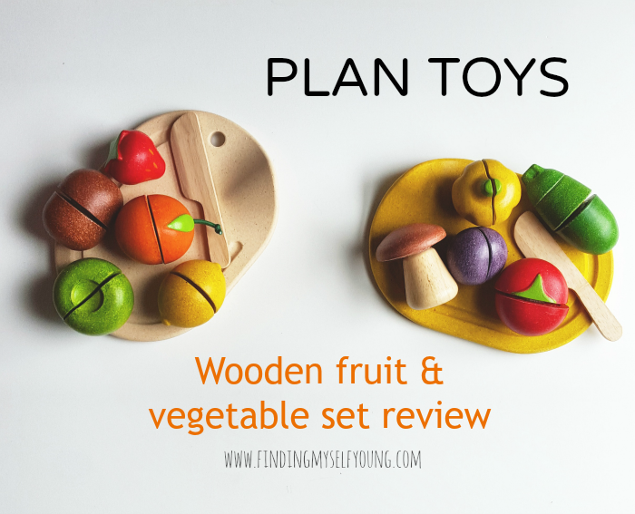 Plan toys wooden fruit and vegetable sets review by Finding Myself Young