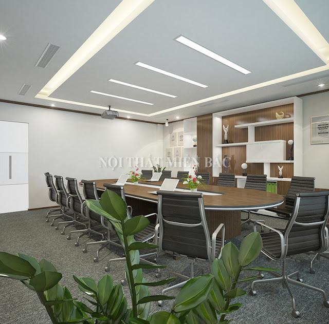 Trong thiết kế nội thất phòng họp đẹp, những sản phẩm nội thất đẹp đều được sắp xếp đảm bảo sự thoải mái cho người tham gia