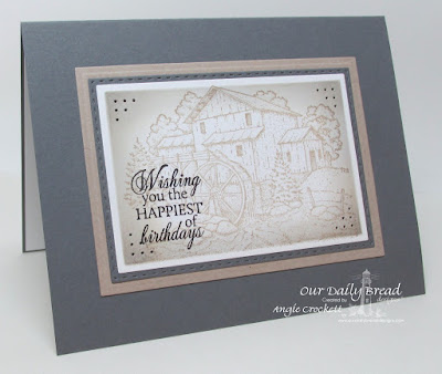 ODBD Living Water, ODBD Custom Double Stitched Rectangles Dies, ODBD Custom Rectangles Dies, Card Designer Angie Crockett