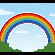 大きな虹のイラスト