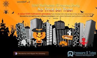 Giveaway : 9 logiciels commerciaux gratuits pour Halloween !