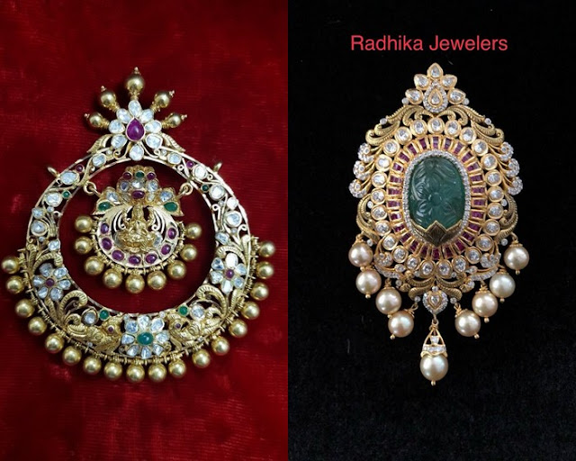 Pachi Work Pendants by Radhika Jewelers