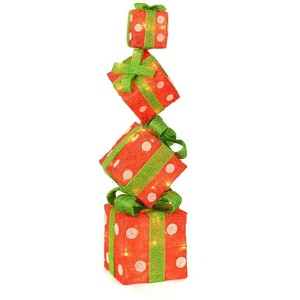 gift boxes elf on the shelf christmas wreath stacked boxes - Cardboard Box Christmas Decorations