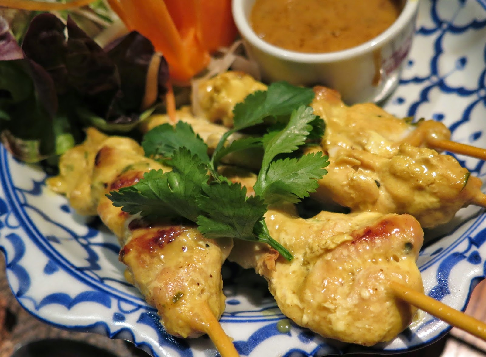 satay chicken, siam cottage