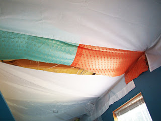 Jennifer Jangles Blog Fabric Ceiling