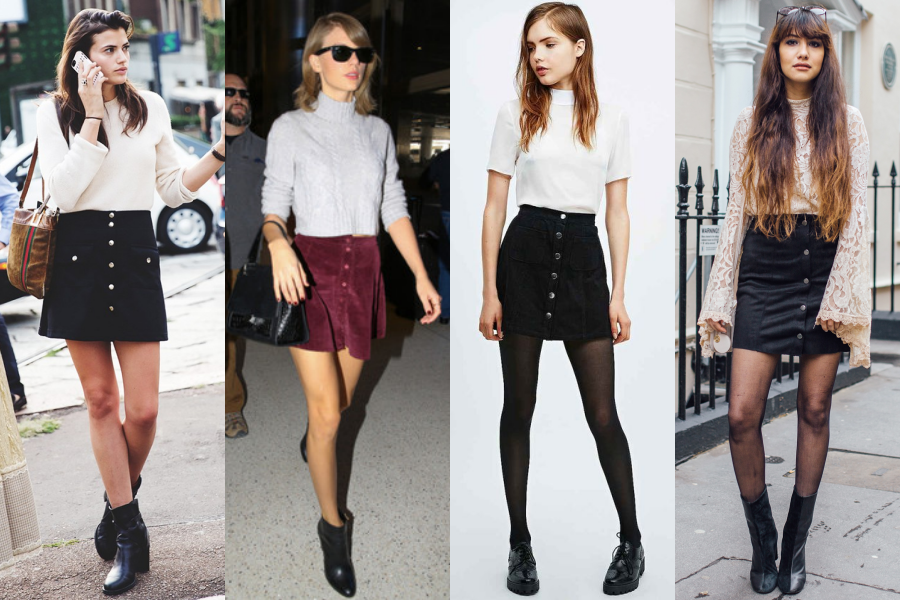 button-up-skirts-black