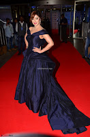 Payal Ghosh aka Harika in Dark Blue Deep Neck Sleeveless Gown at 64th Jio Filmfare Awards South 2017 ~  Exclusive 030.JPG