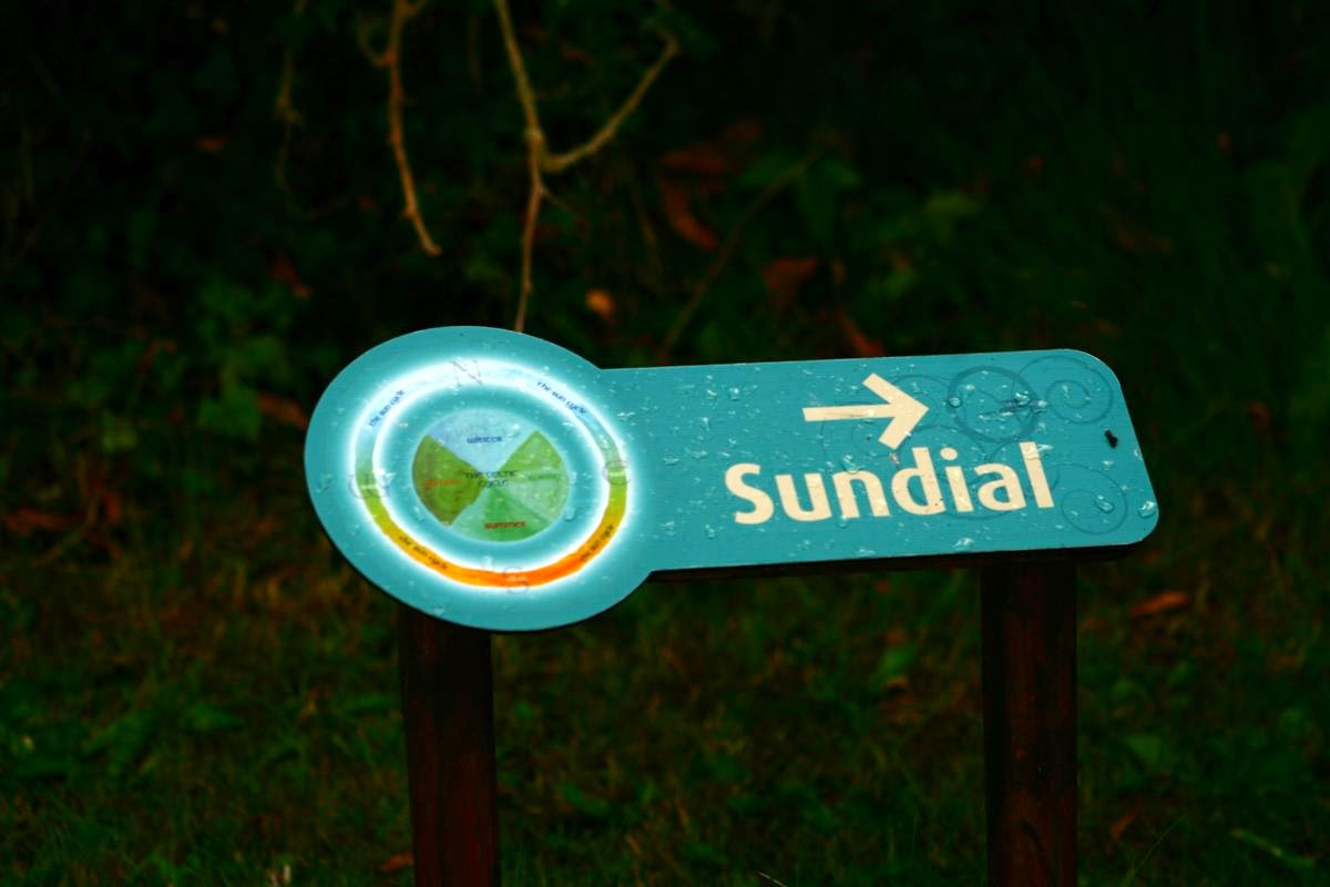 sundial sign Brigit's Garden  © Annie Japaud Photography