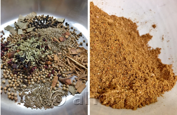 Making Chole Masala Powder