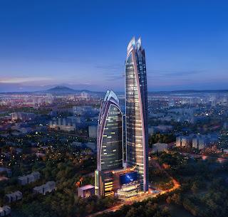 Artist's rendering, Hilton Nairobi Upper Hill hotel, Kenya, Africa