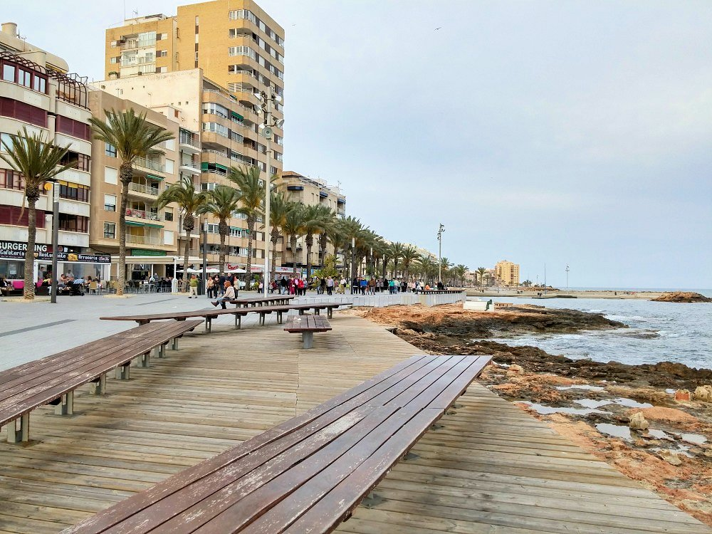 Torrevieja sea front, Murcia, Spain