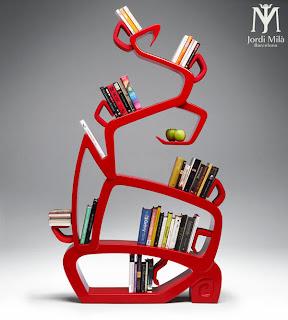 """Diseño de librero """" El árbol de la sabiduria"""""""