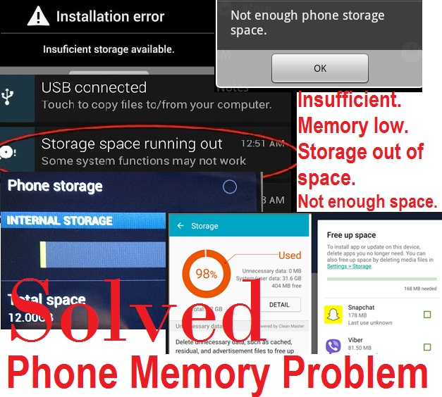 Phone memory problems: Causes and Solutions.