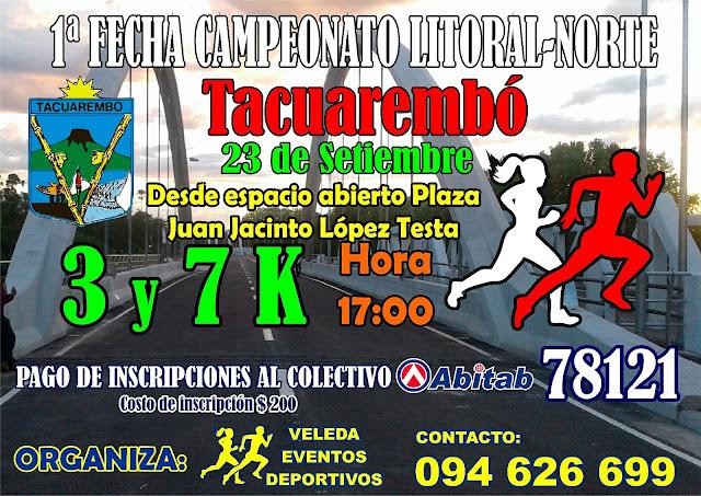 7k y 3k Tacuarembó (1ª fecha Campeonato litoral norte, 23/sep/2017)