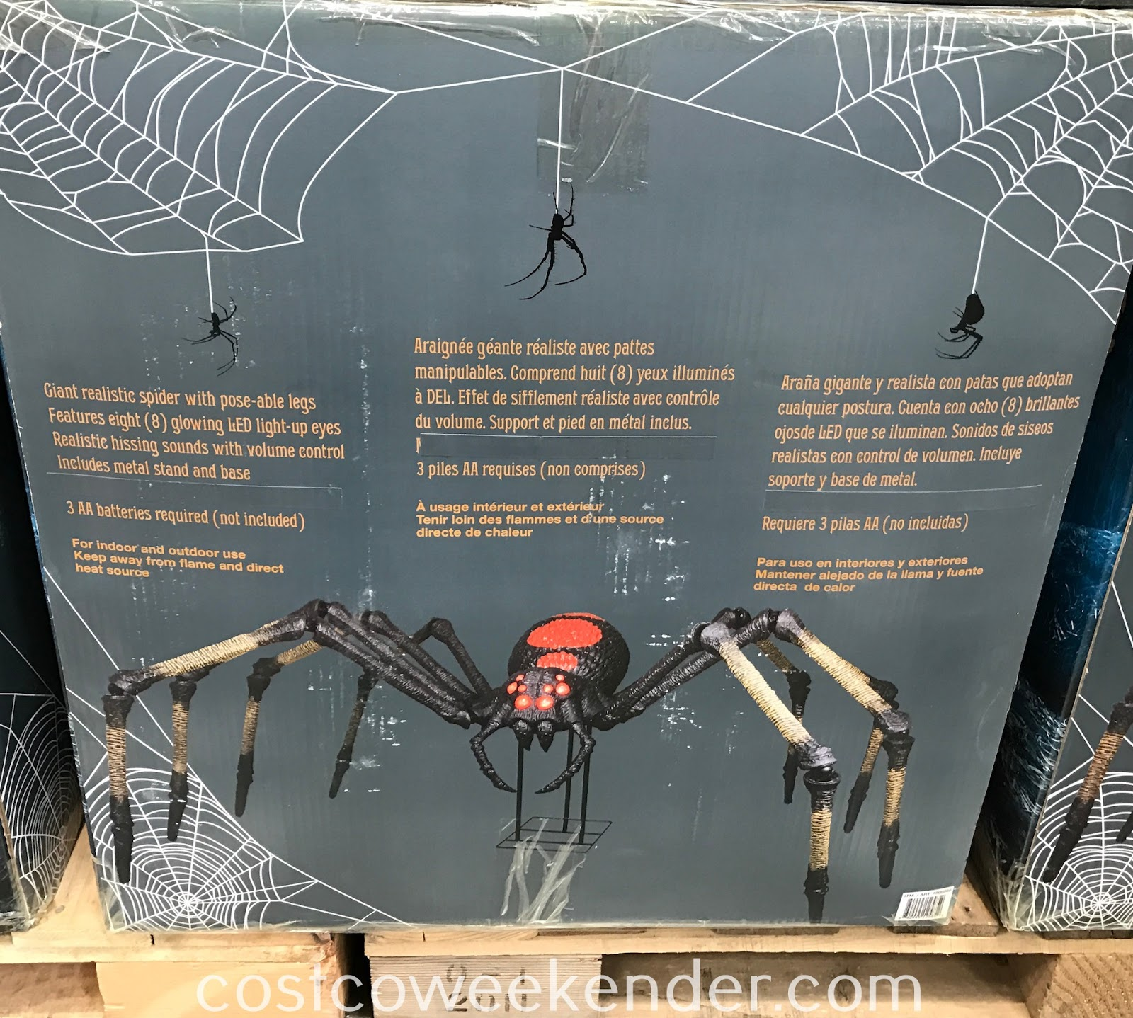 Decorate your home this Halloween with the Giant Mutant Spider