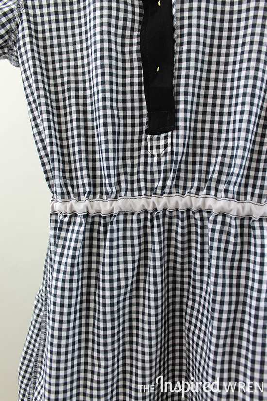 Working from the inside on a great pattern hack! Oliver + S Jump Rope Dress into Shirt Dress   The Inspired Wren