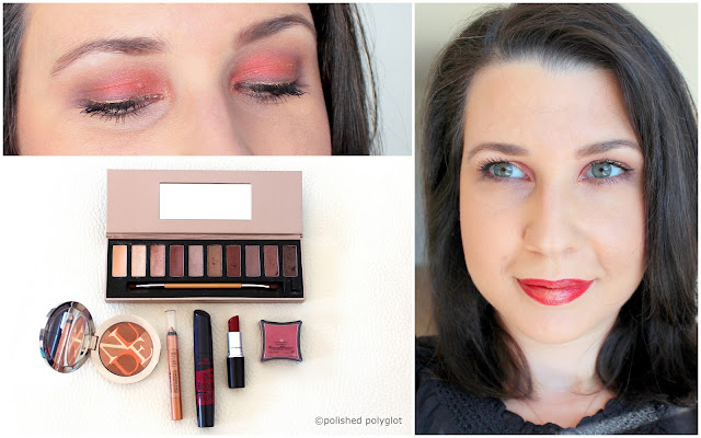 Makeup look Brick red & gold for the Monday Shadow Challenge
