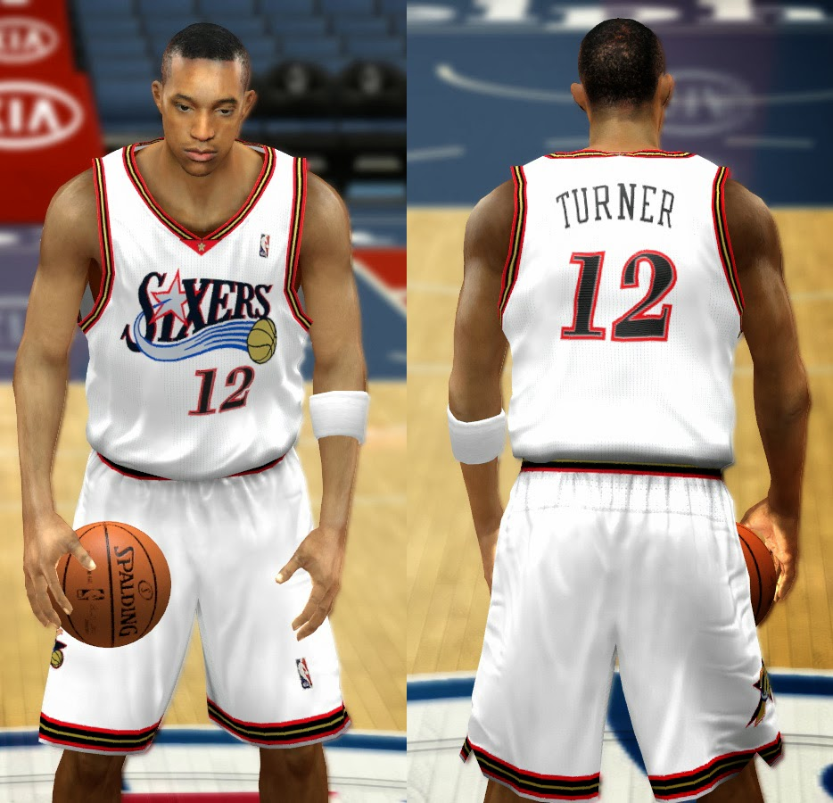 5e4f44d2b NBA 2K14 Complete Philadelphia 76ers Jerseys Patch Pack - HoopsVilla