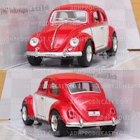Miniatur VW Beetle / Kodok 1967 Two Colors (Red-32K)