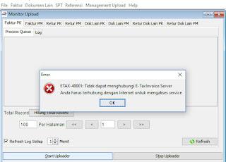 Solusi Mudah dan Cepat ETAX-40001 Tidak Dapat Menghubungi E-Taxinvoice Server