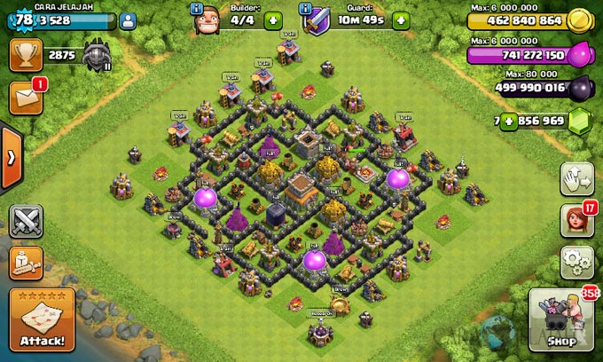 Susunan Formasi Base War TH 8 Update Terbaru 23