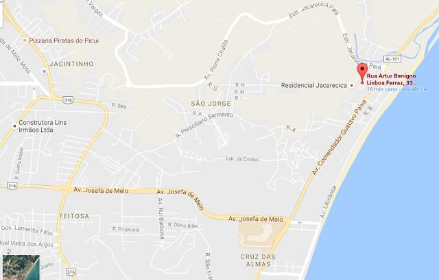 Conj. Res. Alfredo Gaspar de Mendonça-jacarecica-Maceió-Alagoas-mapa