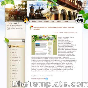 Colombia for Your Soul blogger template