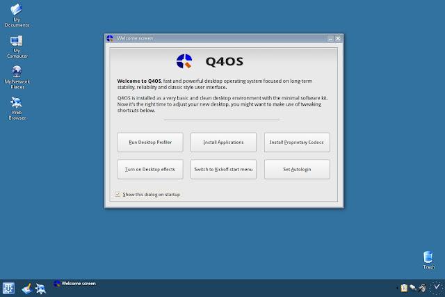 Atualizações importantes estão disponíveis para Q4OS