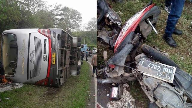 kecelakaan maut bis pariwisata di tanjakan emen februari 2018