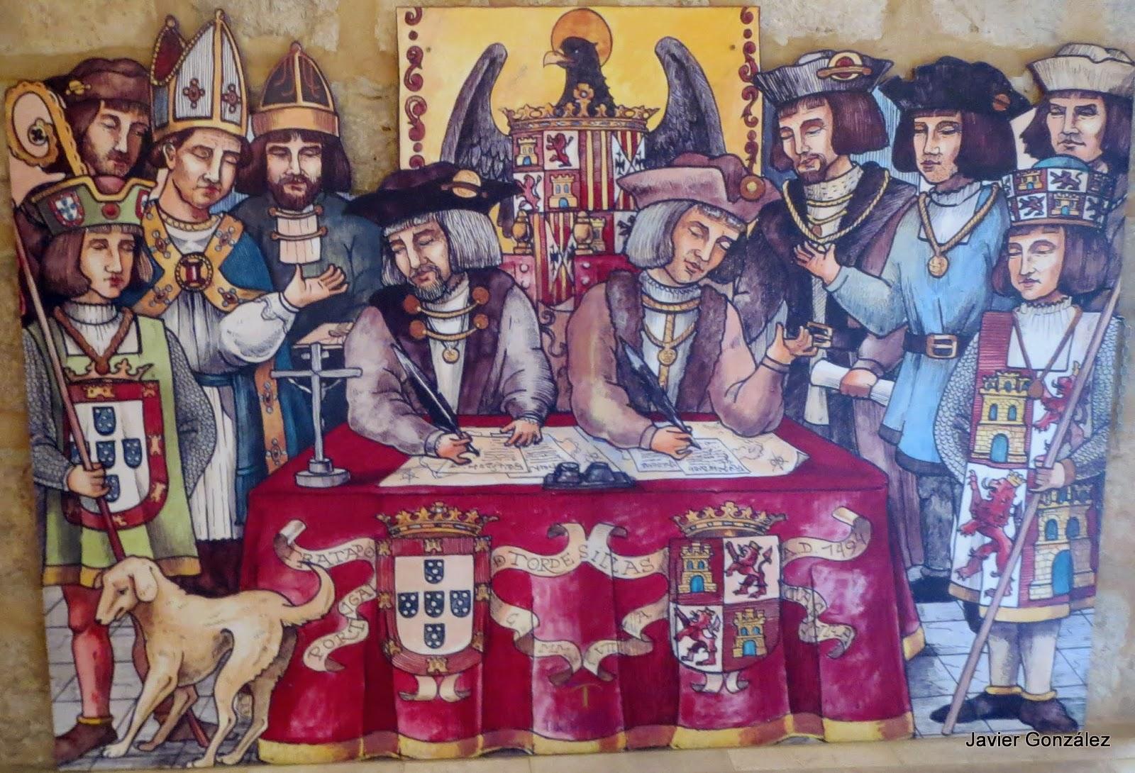 Ruta de Isabel. Firma del Tratado de Tordesillas