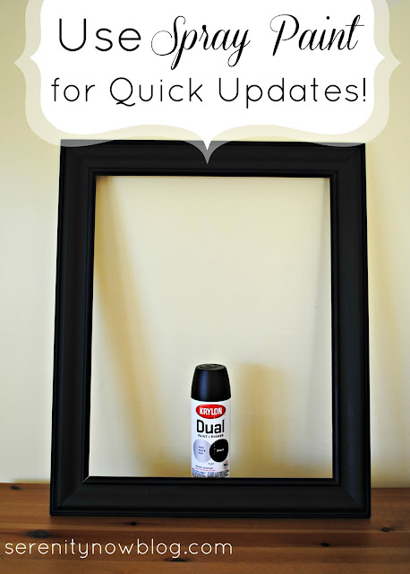 Quick Update: Spray Paint an Old Frame a New Color! via Serenity Now