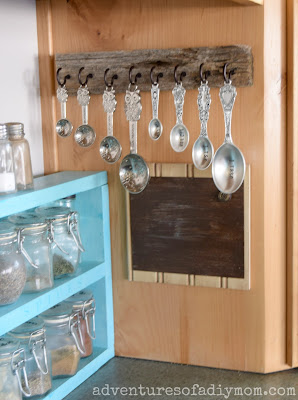 How to Make a Measuring Spoon Rack from Barn Wood
