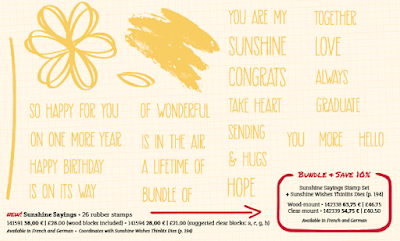Stampin' Up!®  Sunshine sayings