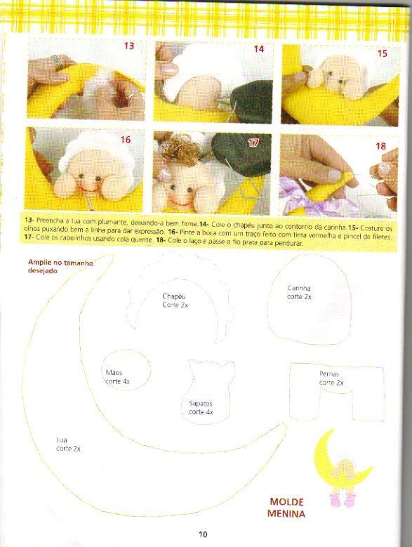 Feltro+7 - Enfeite de porta para maternidade menina