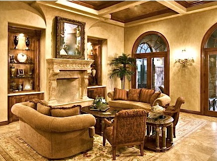 Traditional Style Living Room Fancy Curtains Interior Design Leovan