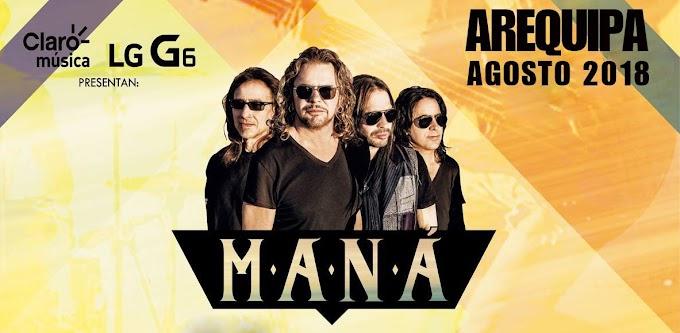 Maná en Arequipa 2018 - Precios de entradas