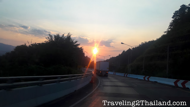 Sunrise on near Uttaradit, Thailand