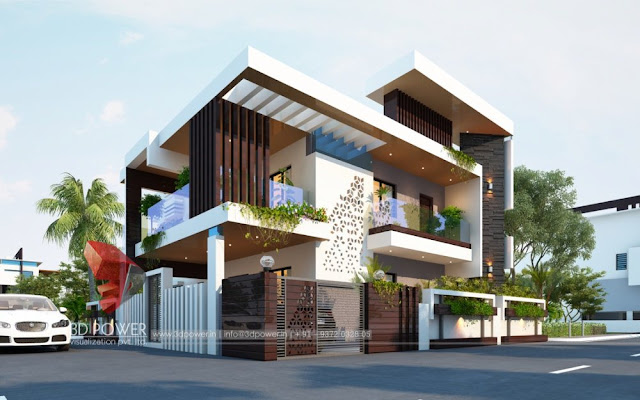 3D Bungalow Rendering-3d Power