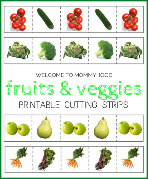 Spring activities for kids: free fruits and vegetables cutting strips #montessori, #preschoolactivities, #homeschool, #springactivitiesforkids