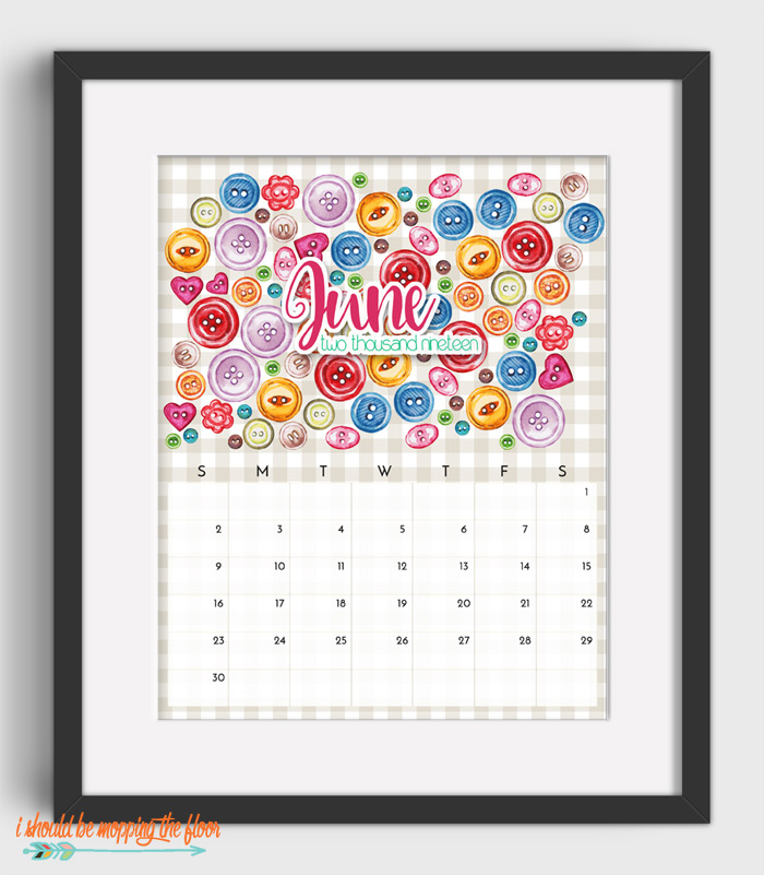 June Sewing Calendar