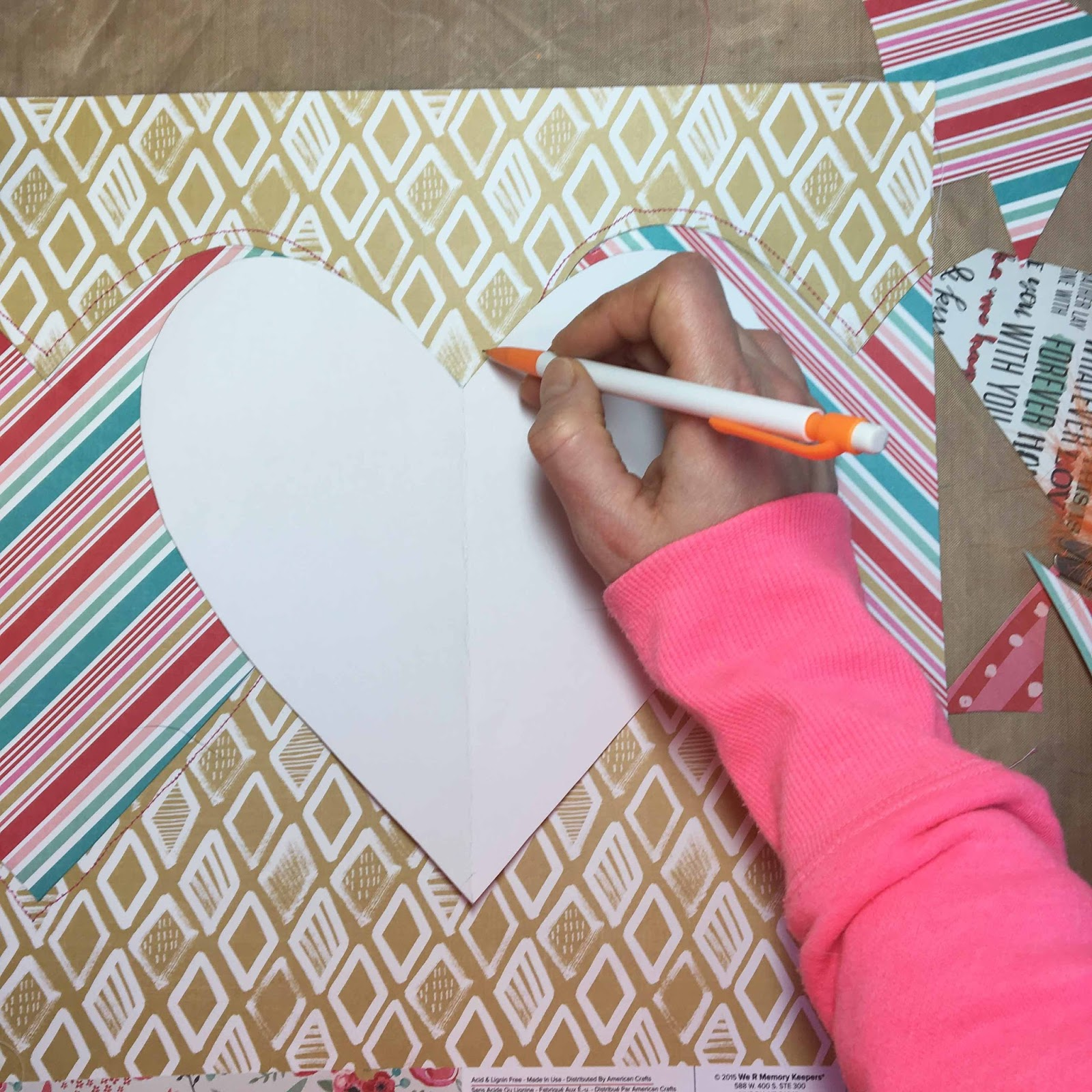 how to create a scrapbook page