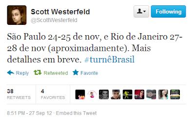 News: Scott Westerfeld no Brasil 9