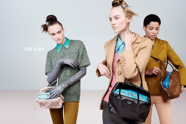 Prada's FULL Fall/Winter 15 campaign Starring the Inside Bag