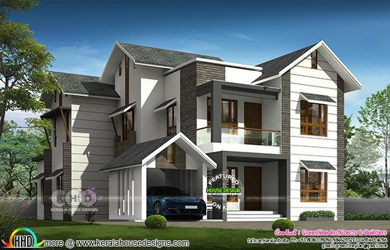 3379 square feet 5 bedroom modern sloping roof