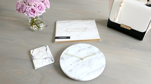 Marble Decor, Marble Clock, Home Goods Marble, Threshold Marble Clock, Marble desk decor, Marble Office Decor