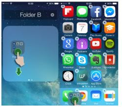 nascondere app su iPhone