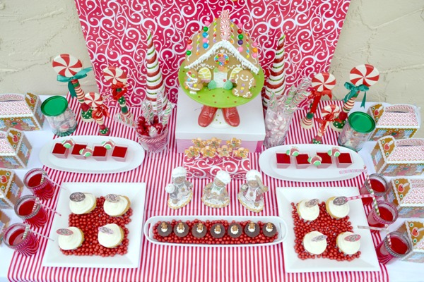 Gingerbread House Decorating Kids Party - BirdsParty.com