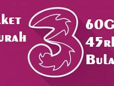 Paket Internet Murah Three 2GB Rp.1500 Perhari